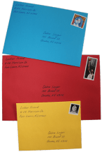 handwritten envelopes - choice of color