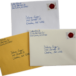 choice of handwritten envelopes