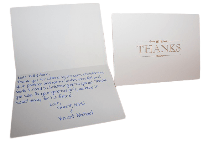 Handwritten Thank You Cards Letter Friend Direct Mail