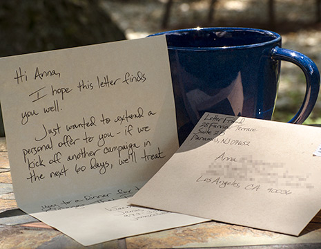 Handwritten letters to resurrect dead leads